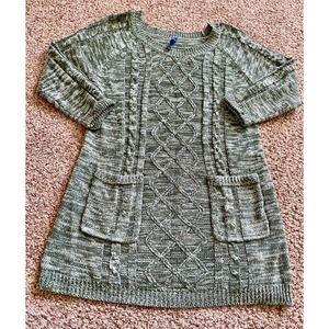 Falls Creek women XL green sweater dress
